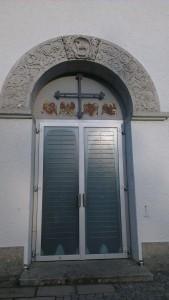 Eingangsportal Kath. Pfarrkirche Heilig Blut