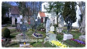 Blick über Bogenhausener Friedhof